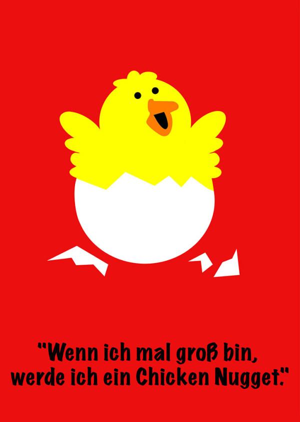 """""""Wenn ich mal groß bin, werde ich ein Chicken Nugget"""" - Viviane Bruecker - Deutschland"""