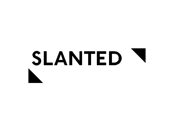 slanted